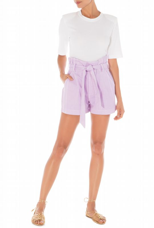 SHORTS CLOCHARD LAVENDER