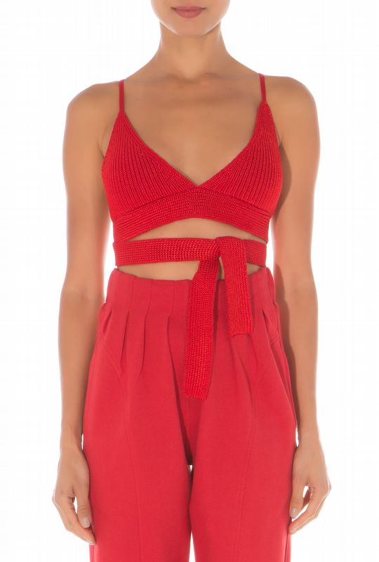 TOP TRICOT RED