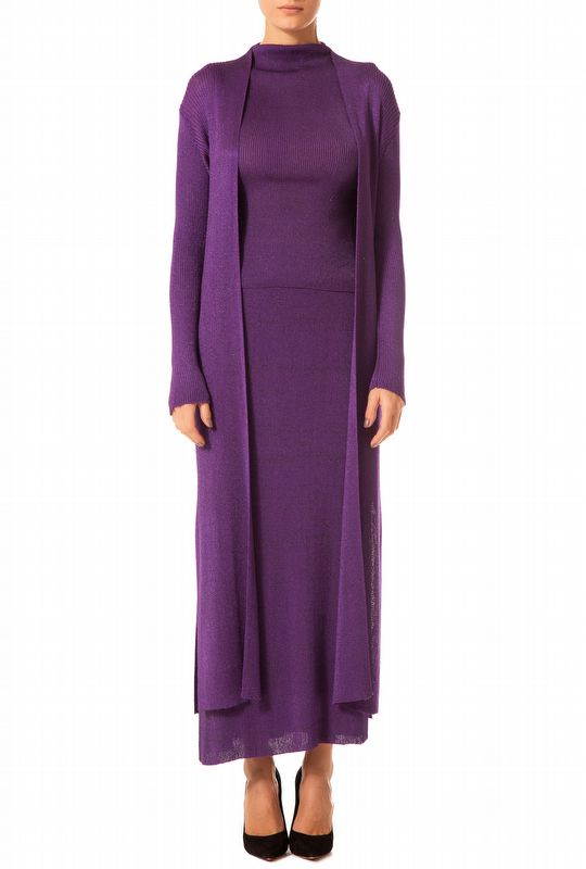 CARDIGAN LUREX PURPURA