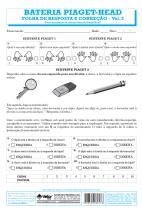 Piaget-Head Livro de Exercício