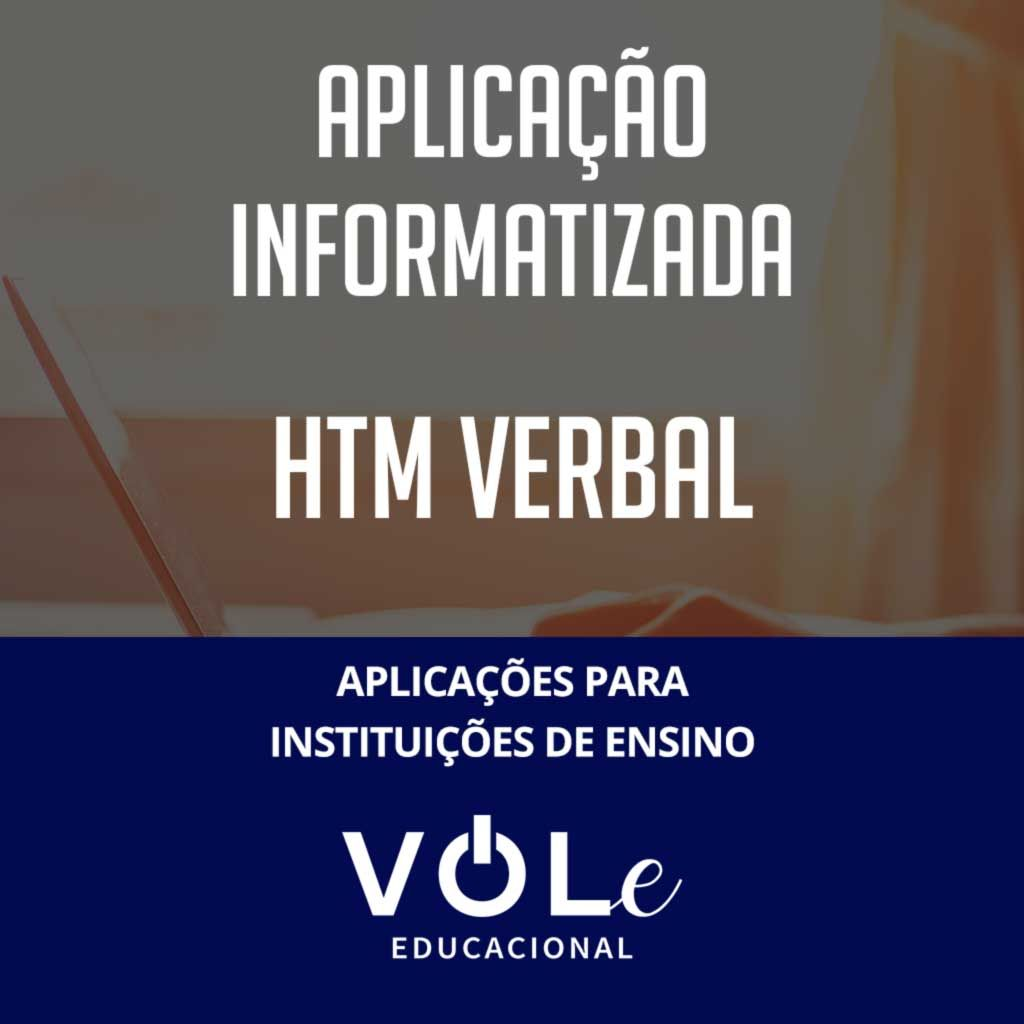HTM Verbal - Aplicação Informatizada VOLe